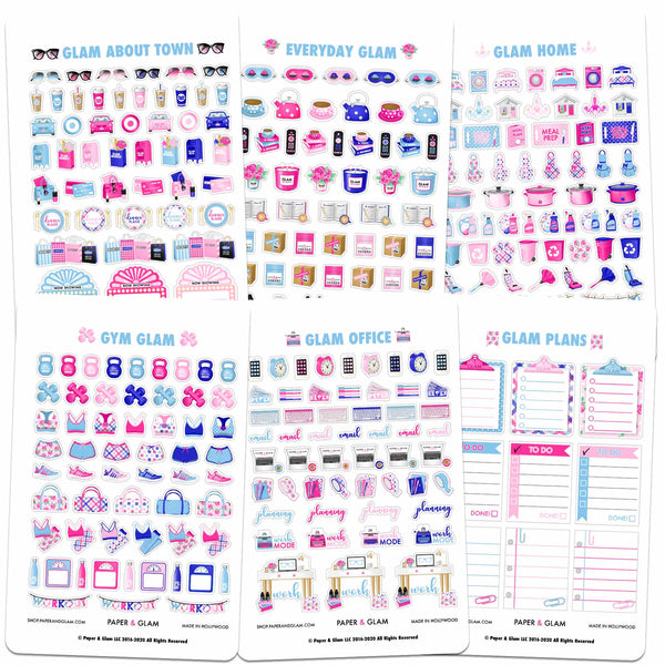 Core Glam January Planner Stickers