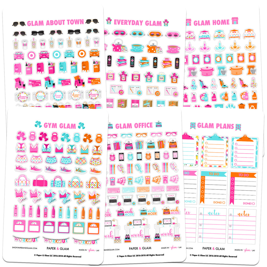 Core Glam June Planner Stickers