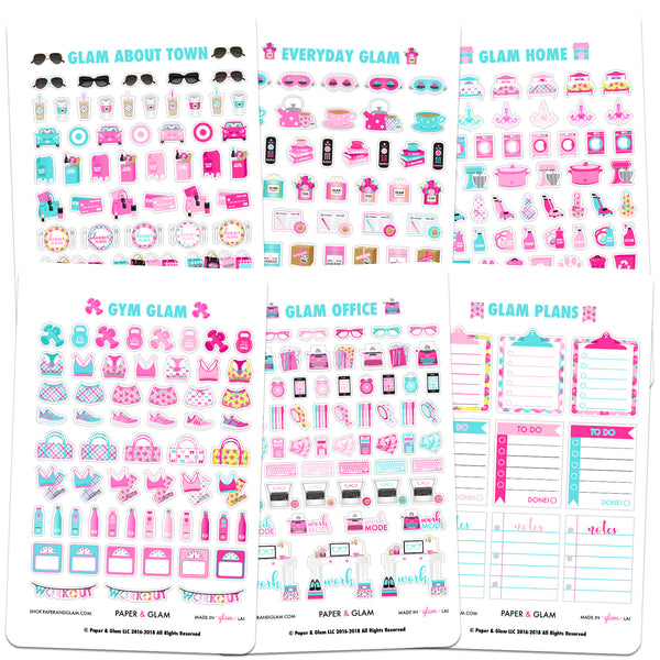 Core Glam May Planner Stickers