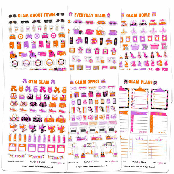 Core Glam October Planner Stickers
