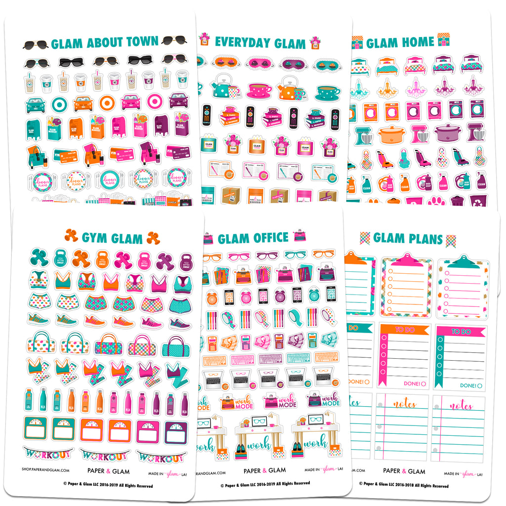 Core Glam September Planner Stickers
