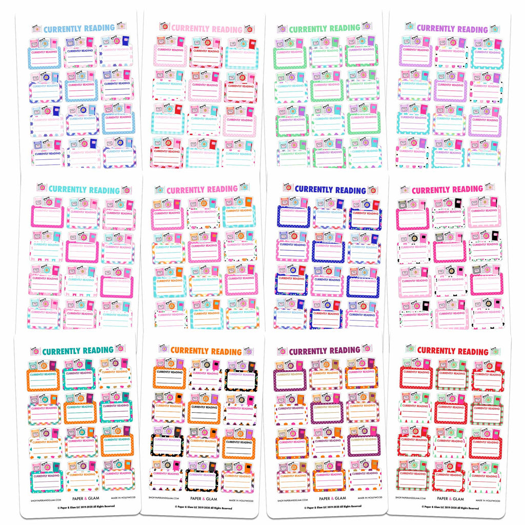 Currently Reading 365 Planner Stickers