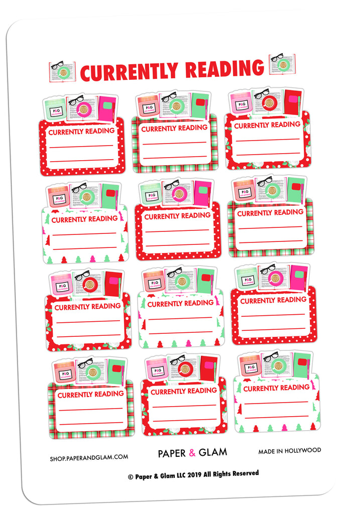 Currently Reading Christmas Digital Planner Stickers