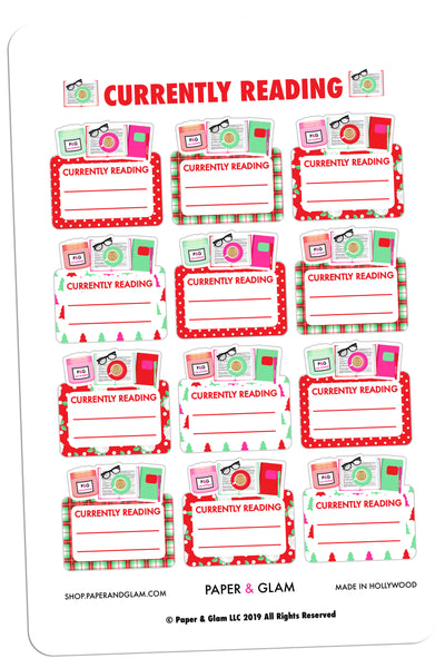 Currently Reading Christmas Planner Stickers