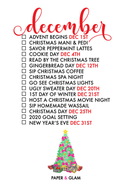 December Seasonal Living List