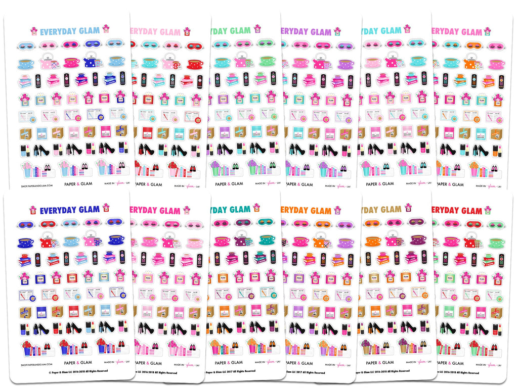 Everyday Glam 365 Digital Planner Stickers