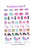 Everyday Glam April Planner Stickers