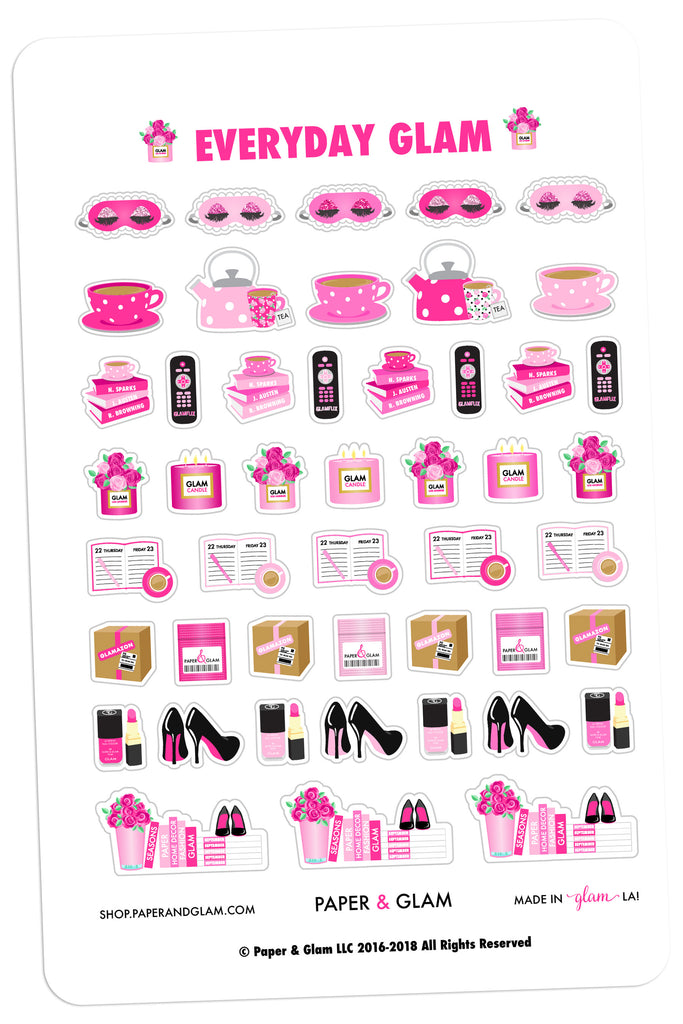 Everyday Glam August Planner Stickers
