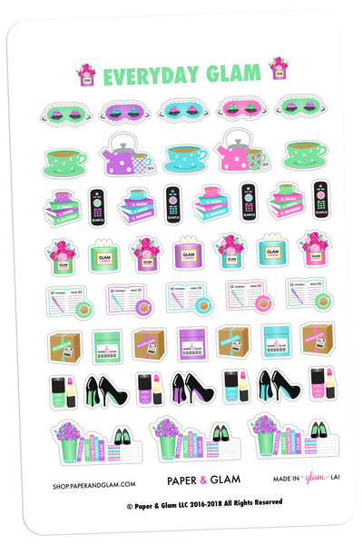 Everyday Glam March Planner Stickers