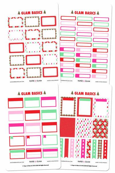 Glam Basics December Digital Planner Stickers