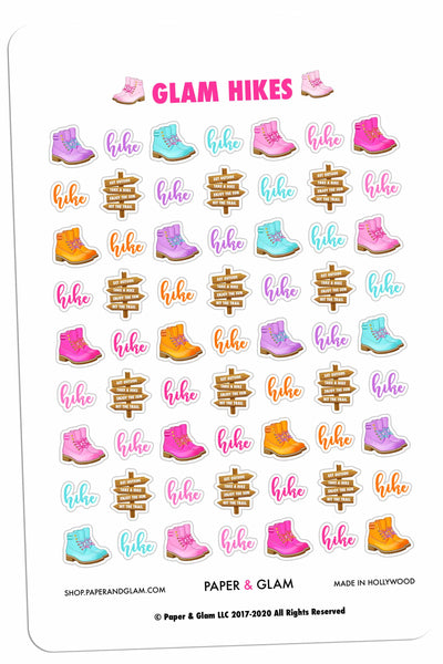 Glam Hikes Planner Stickers