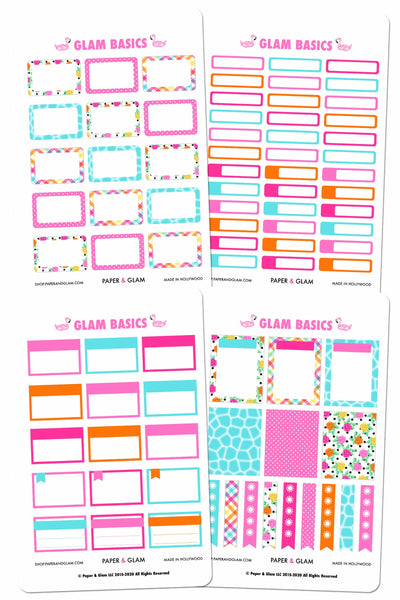 Glam Basics June Digital Planner Stickers