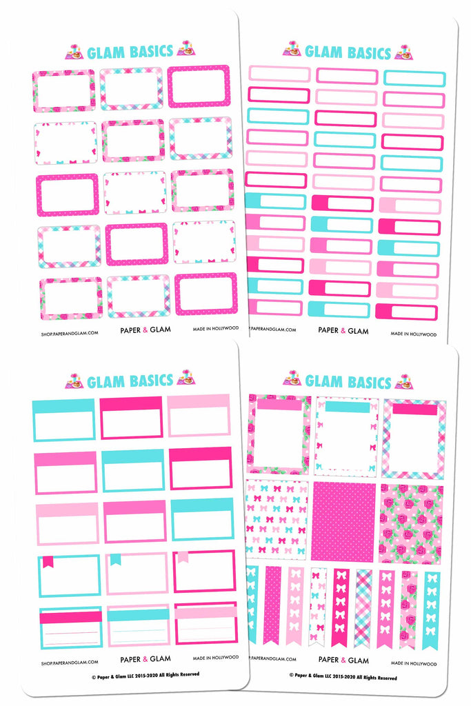 Glam May Basics Planner Stickers