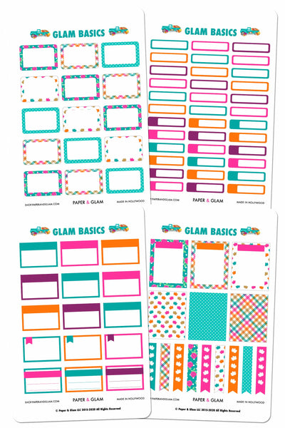 Glam Basics September Digital Planner Stickers