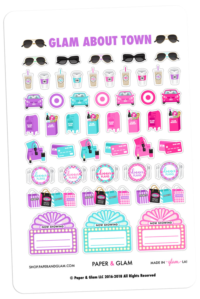 Glam About Town April Planner Stickers