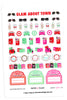 Glam About Town December Planner Stickers