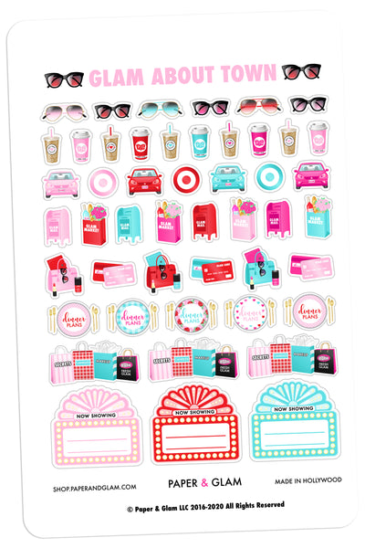 Glam About Town February Planner Stickers