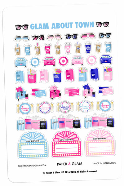 Glam About Town January Planner Stickers