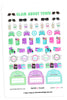 Glam About Town March Planner Stickers