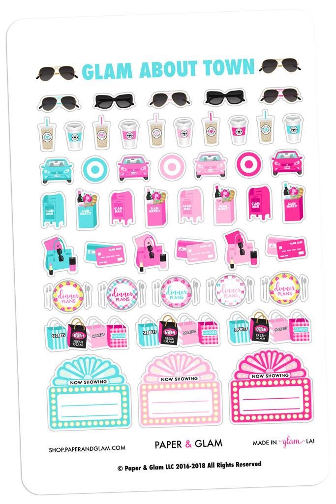 Glam About Town May Planner Stickers
