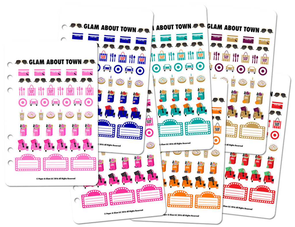 Glam About Town Planner Stickers