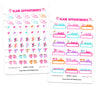 Glam Appointments Digital Planner Stickers
