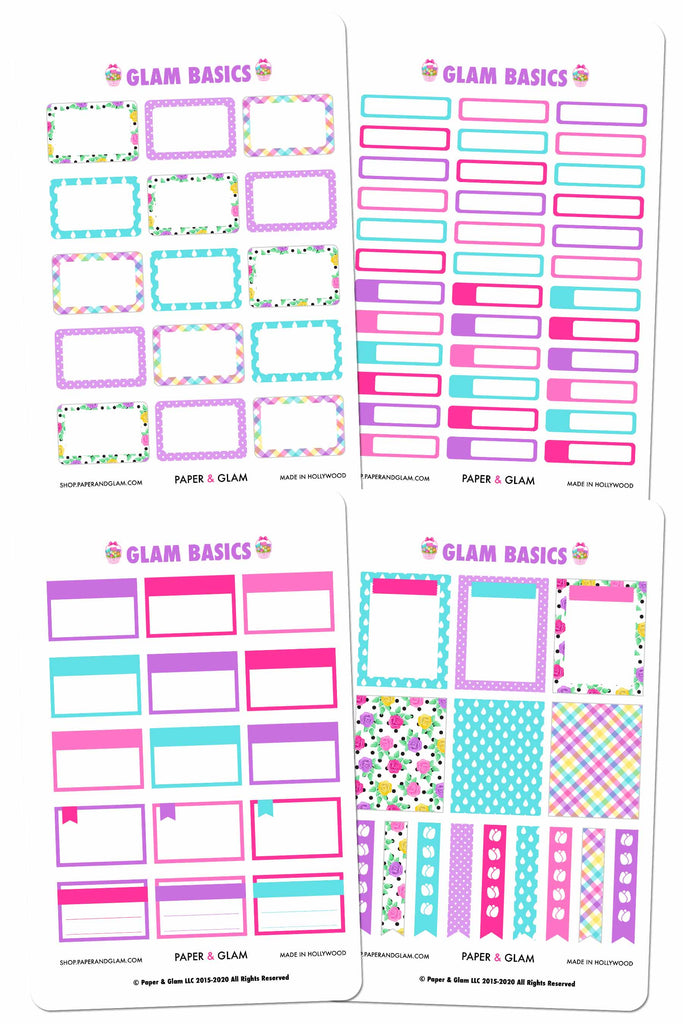 Glam April Basics MISFIT Planner Stickers