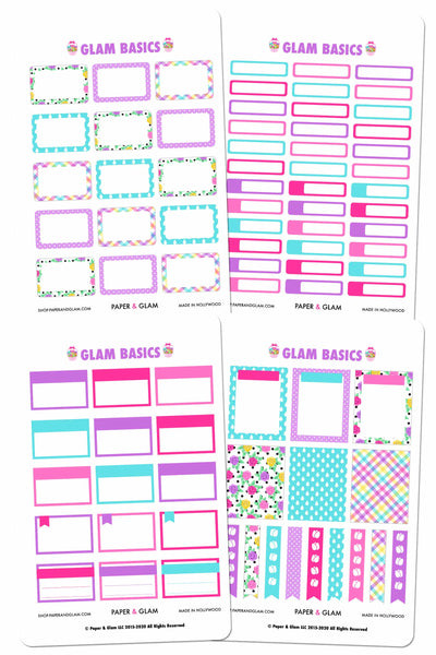 Glam April Basics Planner Stickers