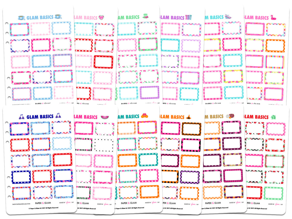 Glam Basics Half Box 365 Planner Stickers