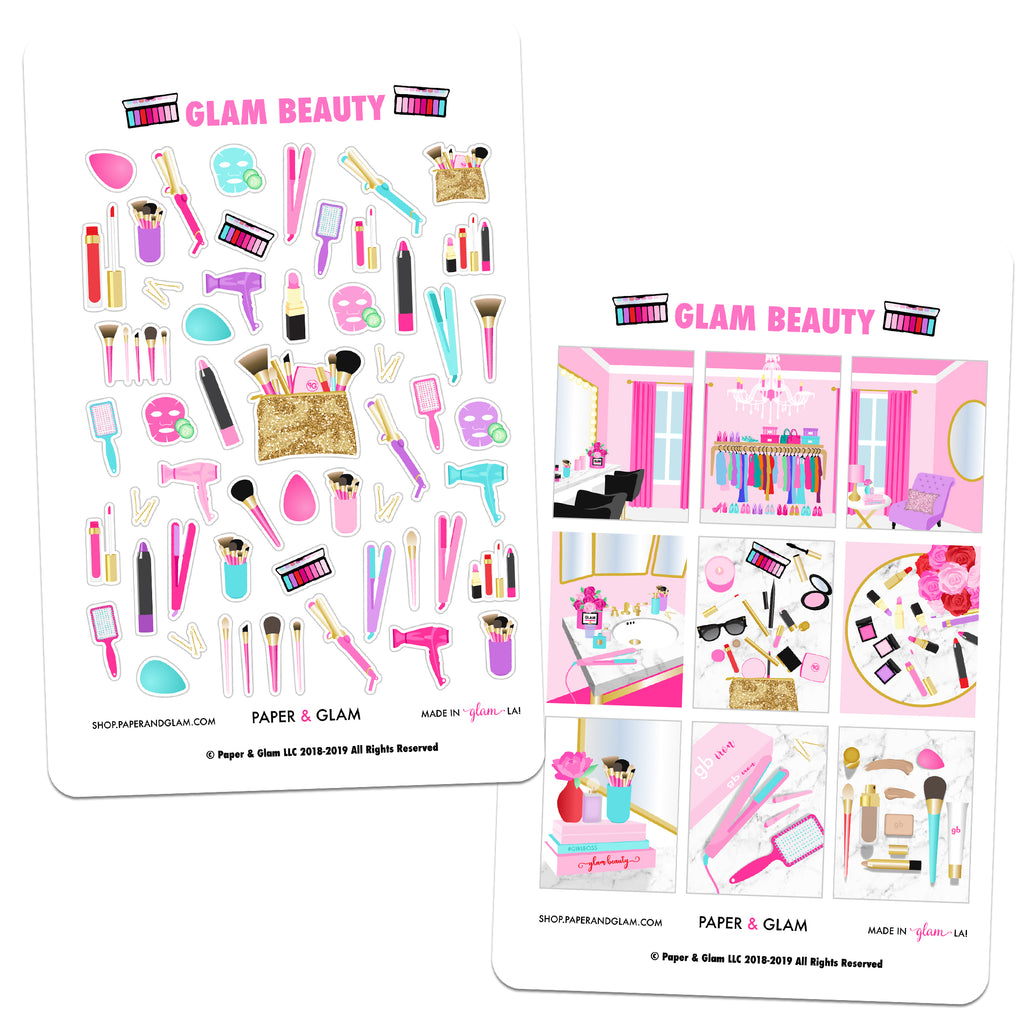 Glam Beauty Planner Stickers