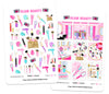 Glam Beauty Digital Planner Stickers