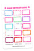 Glam Birthday Basics Digital Planner Stickers
