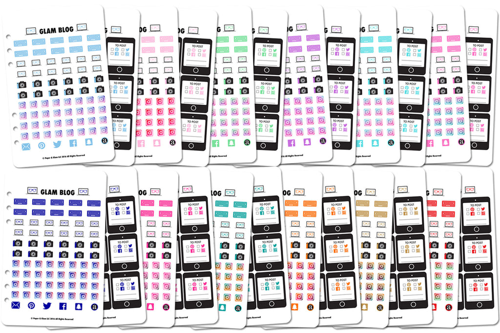 Glam Blog 365 Digital Planner Stickers