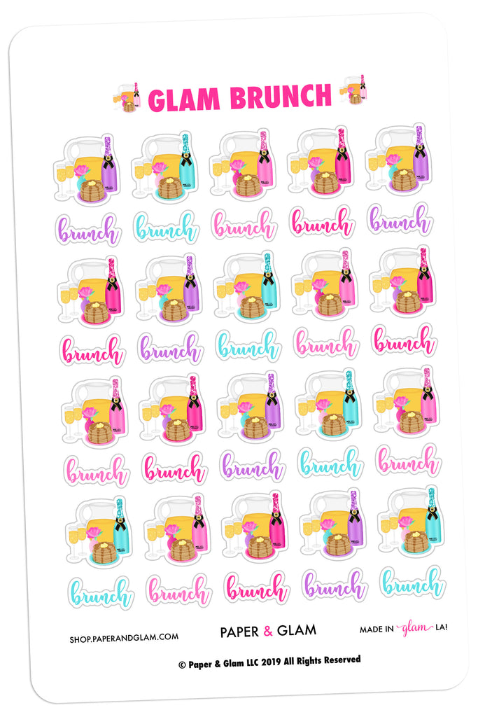 Glam Brunch Digital Planner Stickers