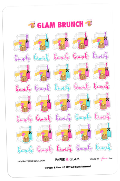 Glam Brunch Planner Stickers