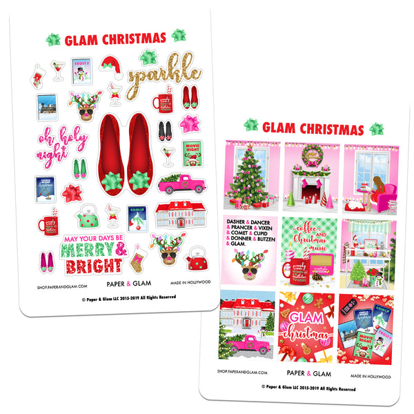 Glam Christmas Digital Planner Stickers