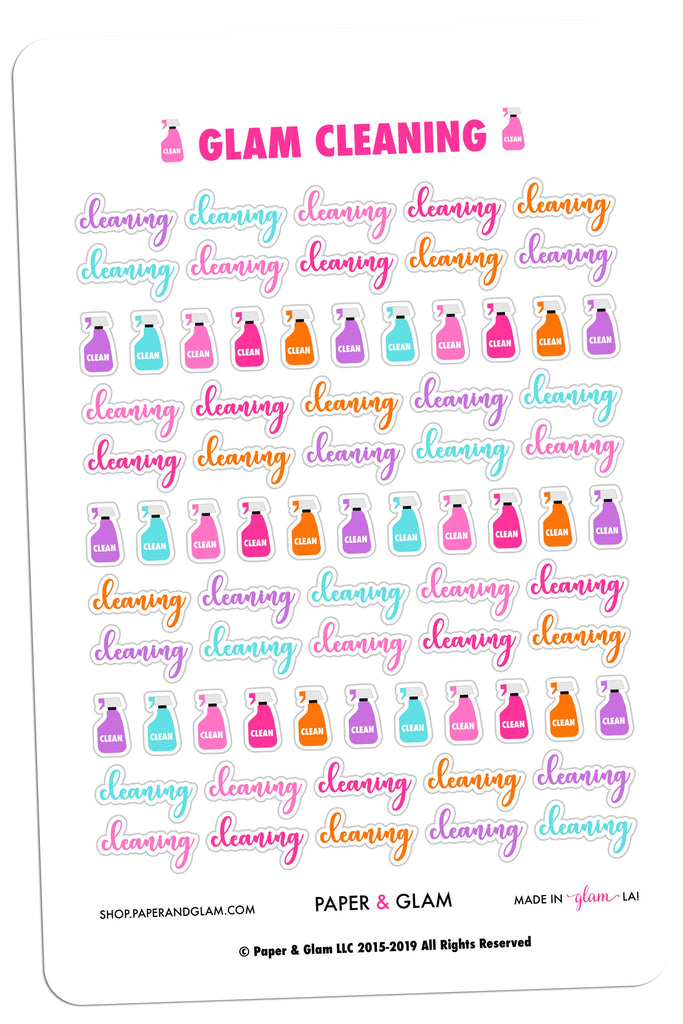 Glam Cleaning Digital Planner Stickers