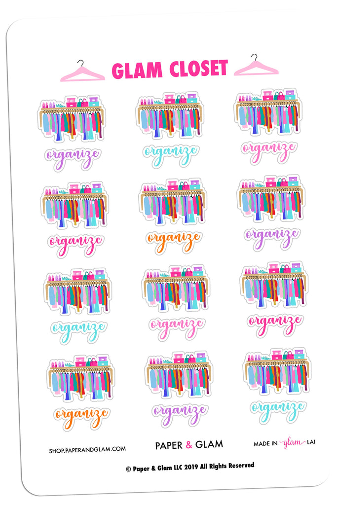 Glam Closet Digital Planner Stickers