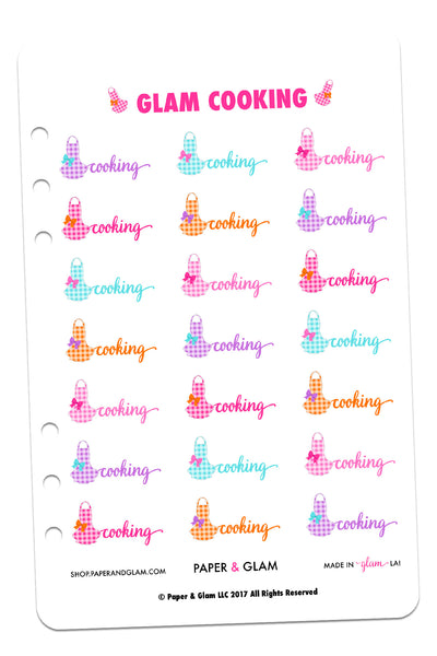 Glam Cooking Planner Stickers