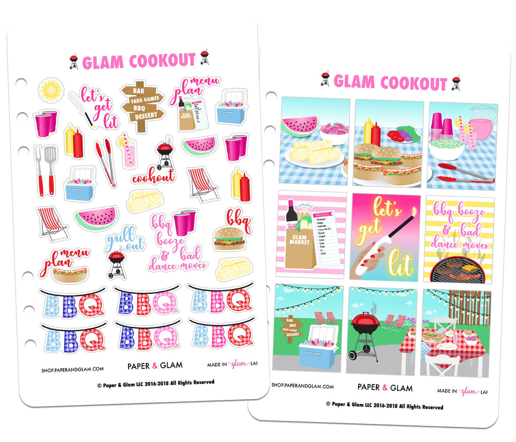 Glam Cookout Digital Planner Stickers