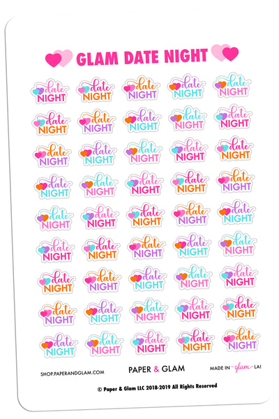 Glam Date Night Planner Stickers