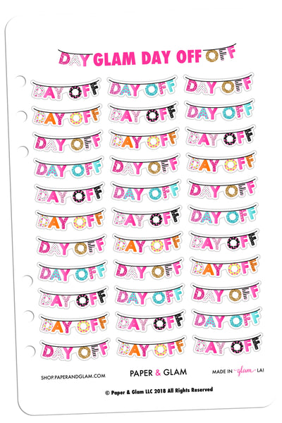 Glam Day Off Planner Stickers
