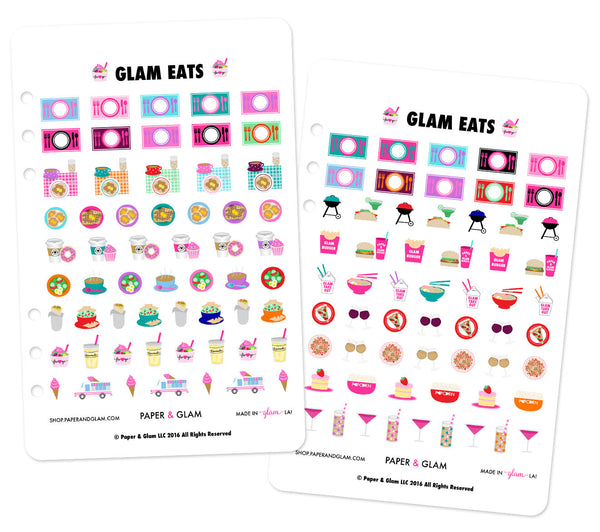 Glam Eats Planner Stickers