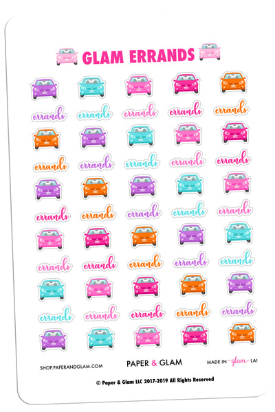 Glam Errands Planner Stickers