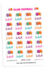Glam Fall Football Digital Planner Stickers