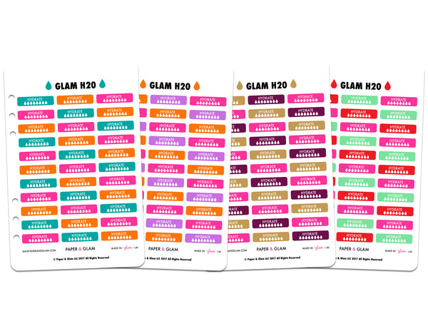 Glam Fall & Holiday h2o Planner Stickers