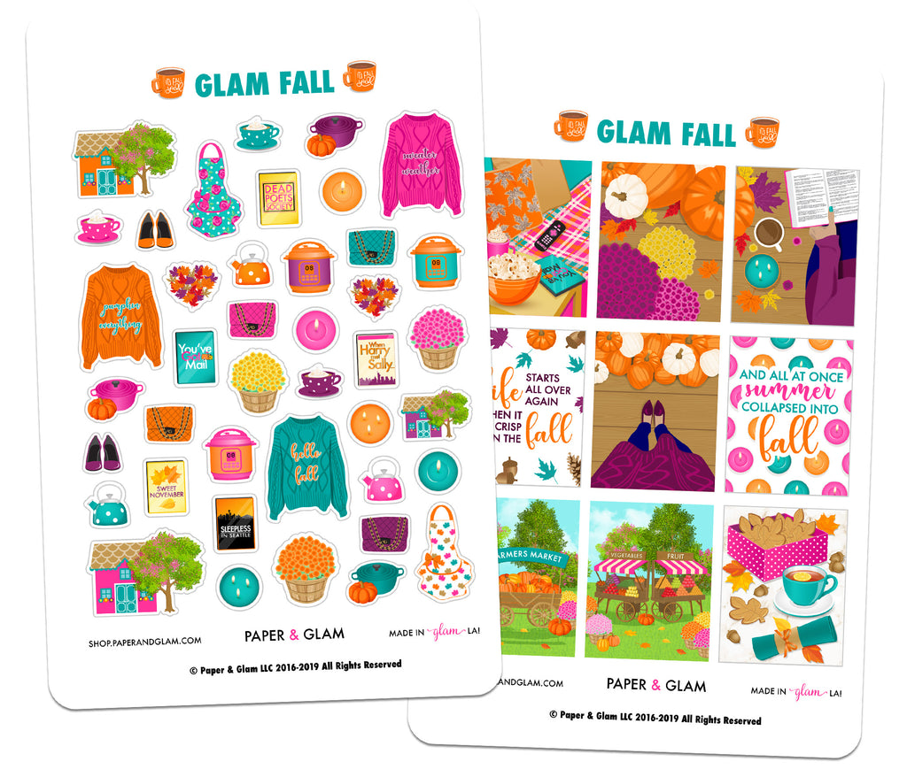 Glam Fall Digital Planner Stickers