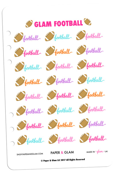 Glam Football Planner Stickers
