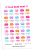 Glam Game Night Planner Stickers