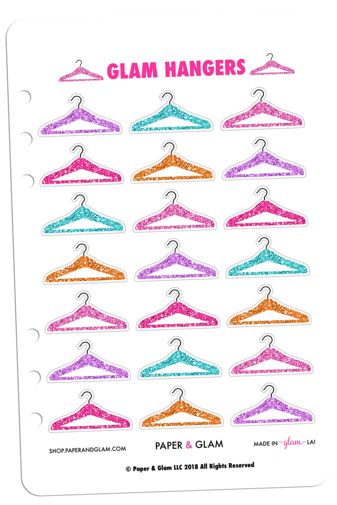 Glam Glitter Hangers Digital Planner Stickers